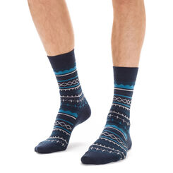 Chaussettes bleu marine avec laine motif hivernal Homme, , DIM