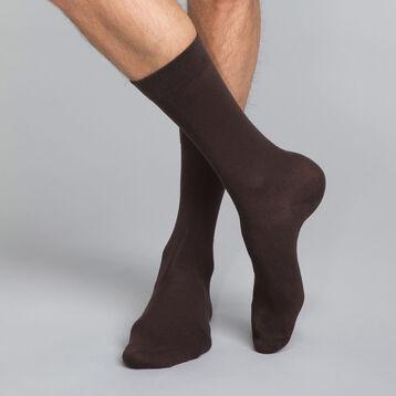 Mi-chaussettes marrons Homme en coton, , DIM