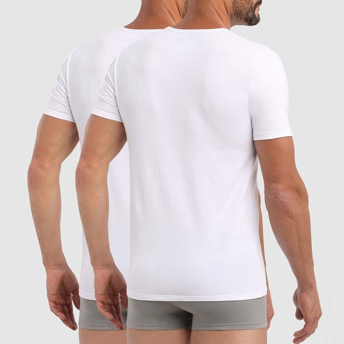 Lot de 2 T-shirts col rond X-Temp blancs, , DIM