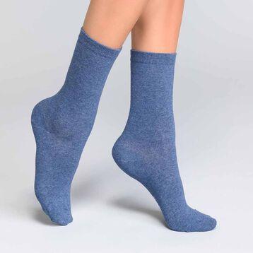Chaussettes femme coton bleu jean - Dim Basic Coton, , DIM