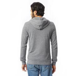 Sweat à capuche zippé gris chiné Homme-DIM