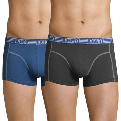 Lot de 2 boxers bleu et gris, , DIM