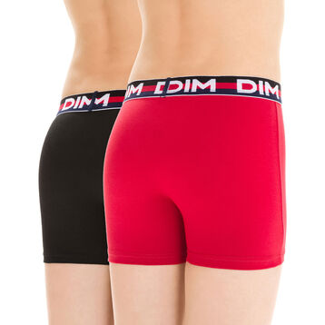 Lot de 2 boxers rouge et noir EcoDIM - DIM Boy-DIM