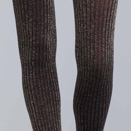 8a03f4df5a2 Collant cottes de mailles en lurex or DIM X ba sh