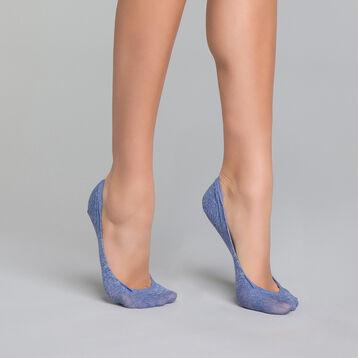 Protège-pieds Femme bleu chiné - Invisifit , , DIM