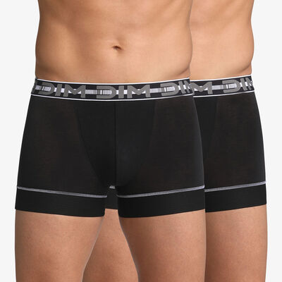 Lot de 2 boxers noirs 3D Stay & Fit, , DIM