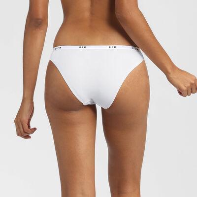 Culotte en dentelle et microfibre blanc Dim Intimately, , DIM