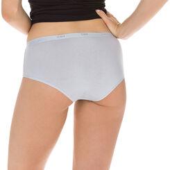 Lot de 3 Boxers noir/blanc/gris Les Pockets Coton-DIM