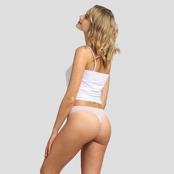 Tanga en microfibre skin rose pour femme Bar à Culottes Dim, , DIM