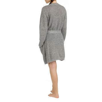 Cardigan cocooning gris chiné Femme-DIM