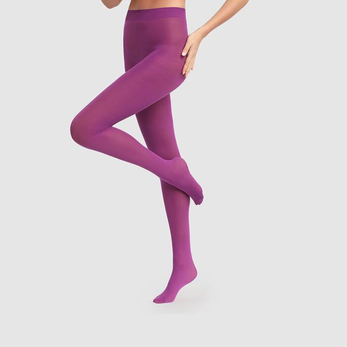 Collant opaque violet zinzolin Opaque velouté Dim Style 50D, , DIM