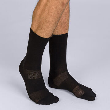 Mi-chaussettes noires sport 3D Flex Homme, , DIM