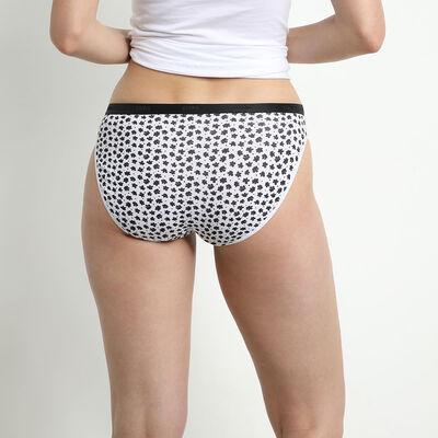 Lot de 5 slips femme en coton stretch à motifs romantiques Les Pockets, , DIM