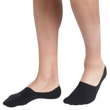 Lot de 2 protège-pieds noirs en coton Homme-DIM