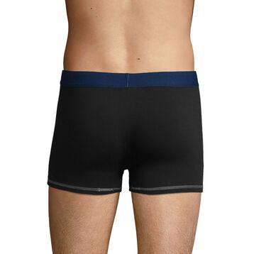 Boxer Noir et Bleu Azur pour homme en coton stretch Mix and Colors, , DIM