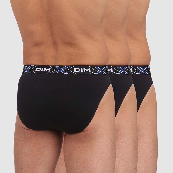 Lot de 3 slips X-Temp Noirs coton stretch pour homme, , DIM
