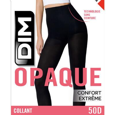 Collant noir opaque velouté sans ceinture Style 50D, , DIM