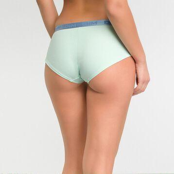 Boxer femme coton vert opale - Les Pockets, , DIM
