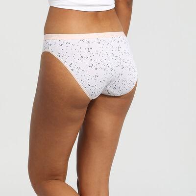 Lot de 3 culottes en coton stretch imprimé love Les Pockets Coton Dim, , DIM