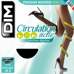 Collant Circulation Activ' noir à pression modérée 25D-DIM