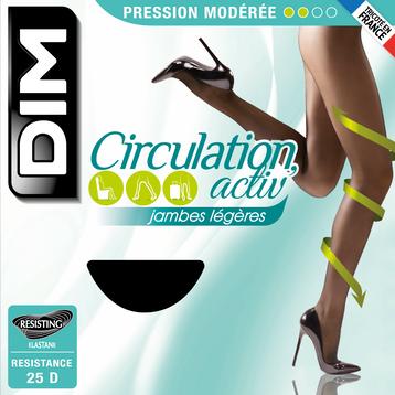 Collant Circulation Activ' caramel à pression modérée 25D, , DIM
