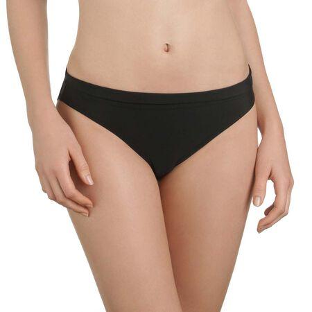 Bas de maillot de bain noir culotte avec revers Femme 5f2ffb81735
