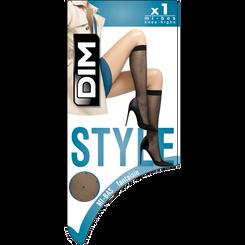 Mi-bas noir Effet plumetis 15D Madame So DIM-DIM