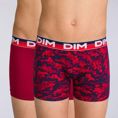Lot de 2 boxers rubis graphique Eco Dim DIM BOY, , DIM