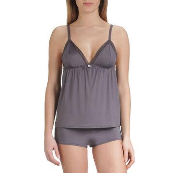 Caraco de pyjama gris taupe Femme-DIM