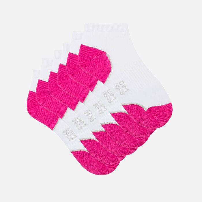 Lot de 3 paires de socquettes de sport DIM Sport Rose et Blanc, , DIM