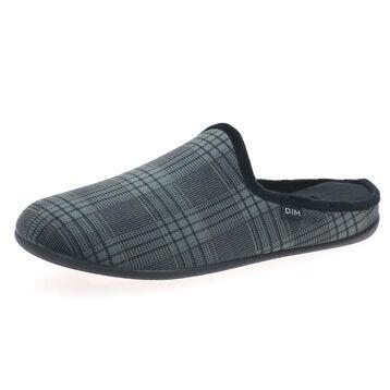 Chaussons type pantoufles Homme tartan gris, , DIM