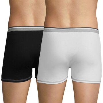 Lot de 2 boxers blanc et noir Long Life-DIM