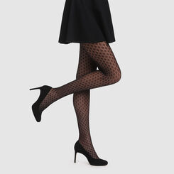 Collant crochet berbère noir Style de Dim, , DIM