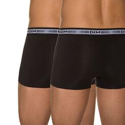 Lot de 2 boxers noirs 3D Flex coton extensible-DIM