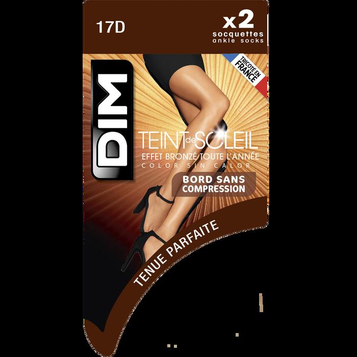 Socquettes clair Teint de Soleil Effet bronzé naturel 17D-DIM