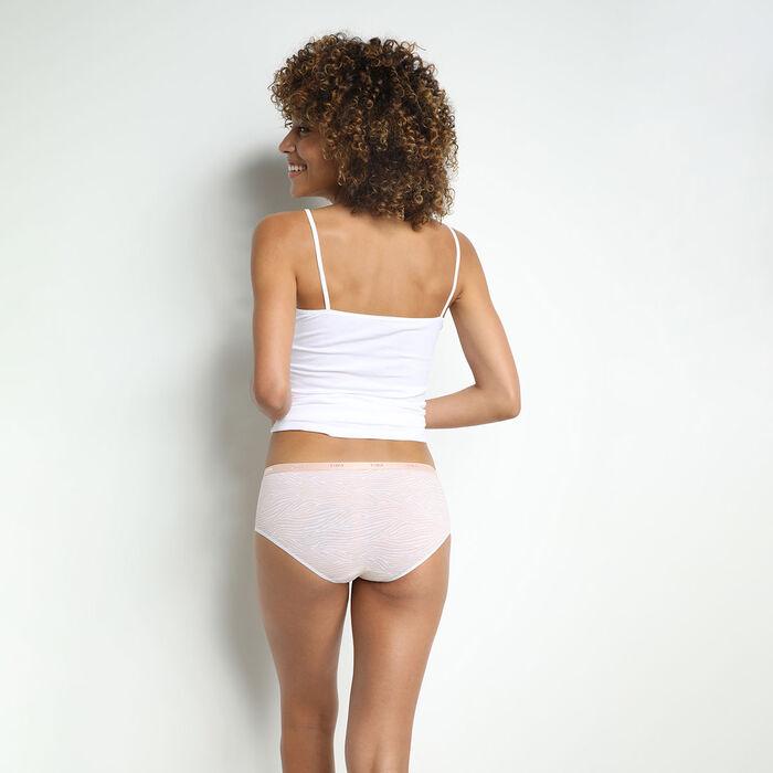 Lot de 3 boxers femme coton stretch imprimé graphique Rose Les Pockets, , DIM