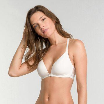 Soutien-gorge sans armatures ouverture avant blanc - Dim Trendy Micro, , DIM