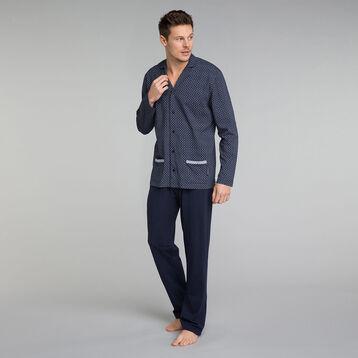Pantalon pyjama bleu marine - Mix and Match, , DIM