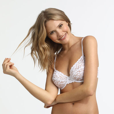 Soutien-gorge femme blanc Blooming Lace Dim, , DIM