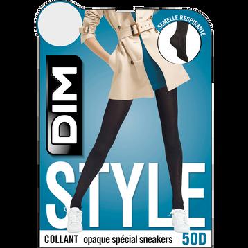 Collant noir opaque velouté spécial Sneakers 50D-DIM