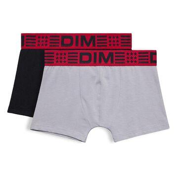 Lot de 2 boxers noir et gris DIM Boy-DIM