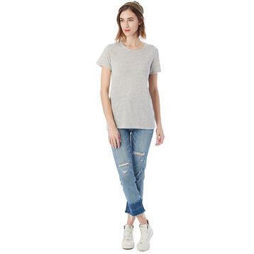 T-shirt Eco-Jersey™ gris clair à manches courtes Femme-DIM
