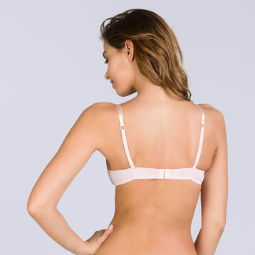 Soutien-gorge push-up sans armatures rose Invisi Fit, , DIM