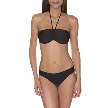 Haut de maillot de bain bandeau noir uni Femme-DIM