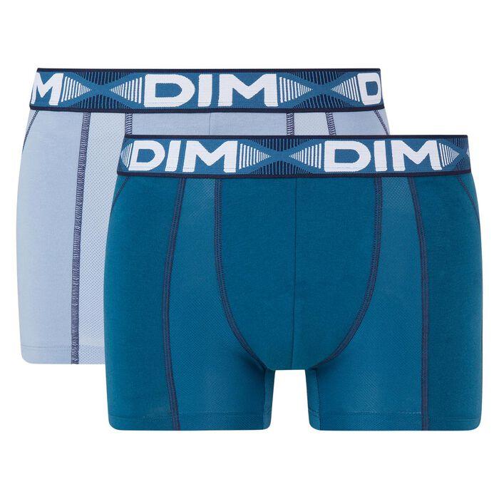 Lot de 2 boxers anti transpirants bleu minuit 3D Flex Air , , DIM
