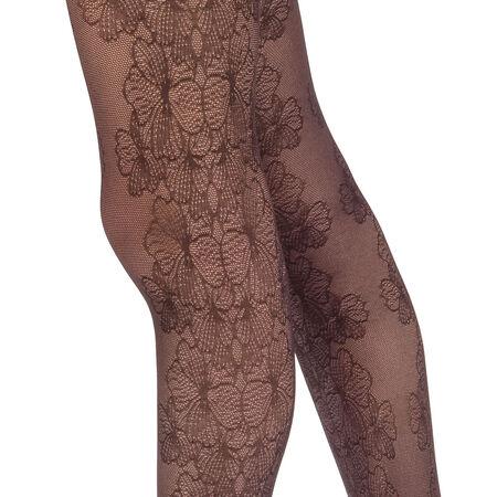 Collant noir motif élégance florale Style 33D. Ref 05YA. N A 141606e83cd