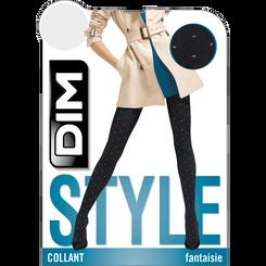 Collant chaud noir plumetis pois gris Style 110D-DIM