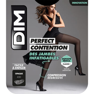 Collant Opaque Noir pour femme DIM Perfect Contention 45D, , DIM