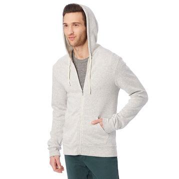 Sweat à capuche zippé gris clair Homme-DIM