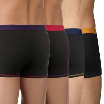 Lot de 4 boxers avec ceintures contrastées Mix and Colors-DIM